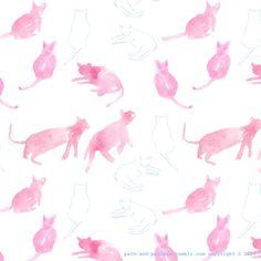 pink cats pattern