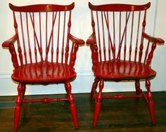 windsor chairs in red.     HOT !!!