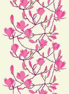 Marimekko fabrics - Buy online from Finnish Design Shop. Discover Unikko and other Marimekko fabrics for a modern home! Design Textile, Textile Patterns, Textile Prints, Flower Patterns, Fabric Design, Pattern Design, Print Patterns, Textiles, Fleurs Art Nouveau