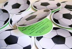 tarjetas fiesta infantil de futbol - Buscar con Google