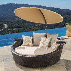Costco...I'd love this for my retirement!! Portofino Comfort™ Espresso & Beige Lounger/Daybed