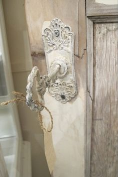 Rustic door key white  Repinned by www.silver-and-grey.com
