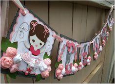 Handmade Banner Custom made GO GREEN Ballerina by nadyasworld
