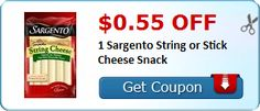 New Coupon!  $0.55 off 1 Sargento String or Stick Cheese Snack - http://www.stacyssavings.com/new-coupon-0-55-off-1-sargento-string-or-stick-cheese-snack-2/