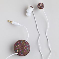 One of my favorite discoveries at WorldMarket.com: Donut Earbuds and Cord Wrapper These are so cute!