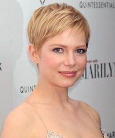 Very short blonde hair pixie cut you'll never guess michelle williams' next big role! Short Blonde Pixie, Short Hair Cuts, Short Hair Styles, Pixie Bangs, Blonde Pixie Haircut, Blonde Haircuts, Long Pixie, Short Hairstyles For Women, Hairstyles Haircuts