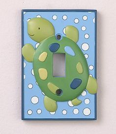 COCALO Baby : Nursery Collections : Neutral : Turtle Reef Night Light & Switch Plate Set