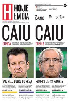 Capa do dia 15/06/2016 #HojeEmDia #Jornal #Notícias #News #Newspaper