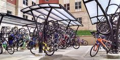 bike shelters made by Brasco International, USA manufacturer of bike shelters
