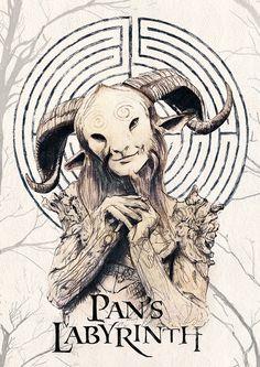 Pan's Labyrinth Watercolour Illustration  by MichaelJIllustration