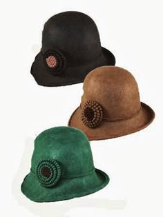 Single Petal Flower Cloche, in Brown or Black, $28.95, from Jeanne Simmons