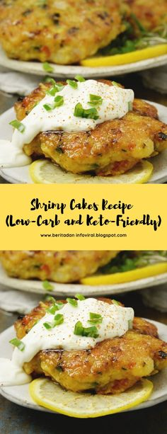 Shrimp Cakes Recipe (Low-Carb and Keto-Friendly) #lowcarb #keto #seafood #maincourse Low Carb Keto, Low Carb Recipes, Seafood Recipes, Dinner Recipes, Lunch Recipes, Low Carb Brasil, Shrimp Cakes, Crab Cakes, Pescatarian Recipes