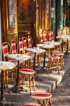 We sit here and watch the artists - Cafe in Place du Tertre, Montmartre, Paris France. © Brian Jannsen Photography