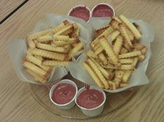 "The French Fry Cake. Not really, it's pound cake and ""ketchup"" icing."