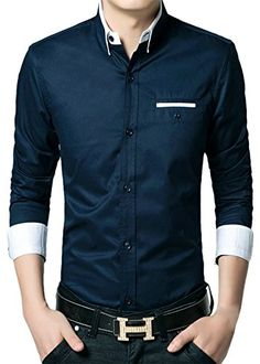 APTRO Men's Cotton Blend Business Slim Casual Long Sleeve Dress Shirt #11 Dark Blue US XS(Tag L) APTRO http://www.amazon.com/dp/B0195WATAY/ref=cm_sw_r_pi_dp_x-JAwb0GAF3TN