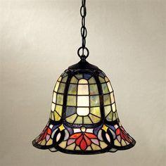 Quoizel TF1737VB Hyacinth SingleLight Bell Large Pendant, Vintage Bronze