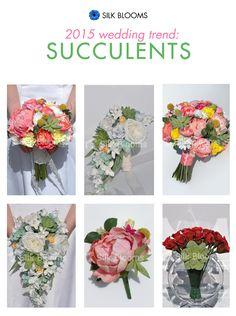 2015 Wedding Flower Trend: Succulents!  #succulents #2015 #wedding #flowers #trend