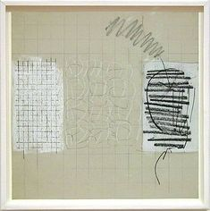 """Robert Ryman - Study, 1961, (""""Throughout his career, Ryman has isolated the most basic components of painting and experimented with their variations."""")"""