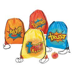 Help your students be Faith Super heros! Fantastic Faith Backpacks - OrientalTrading.com