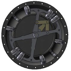 The Beck 1909 combustion engine design gif animation engineering gif valve piston circular array Mechanical Power, Mechanical Design, Mechanical Engineering, Electrical Engineering Books, Combustion Engine, Small Engine, Car Engine, Gifs, Motion Design