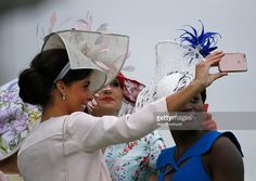 Posing for a selfie on Ladies Day at Epsom Racecourse on June 2016 in Epsom, England. Furlong Fashion Racing Style Fashion At The Races Epsom Derby, Race Day, Ascot, Chester, Ladies Day, Style Fashion, June, England