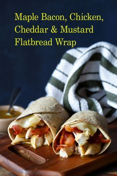 Maple-Bacon,-Chicken,-Cheddar-&-Mustard-Flatbread-Wrap