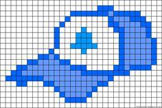 Dipper baseball cap Gravity Falls perler bead pattern
