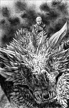Game Of Thrones Queen, Arte Game Of Thrones, Game Of Thrones Artwork, Game Of Thrones Tattoo, Game Of Thrones Dragons, Got Dragons, Game Of Thrones Fans, Mother Of Dragons, Daenerys Targaryen Art