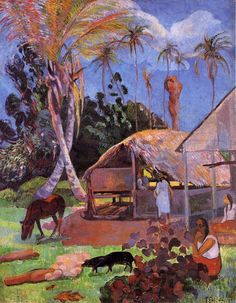 Paul Gauguin oil painting reproductions for sale, create oil paintings from your images, fine art by oil on canvas.(Paul Gauguin [France, - page 10 Paul Gauguin, Henri Matisse, Kunsthistorisches Museum, Art Occidental, Pig Art, Impressionist Artists, Arte Popular, Pierre Bonnard, Art Moderne