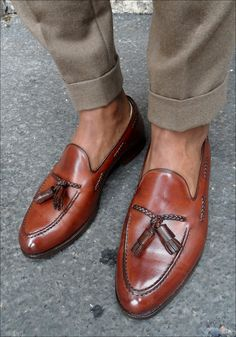 b935b80a6 Black and brown leather and suede shoes. With Goodyear welted construction.  Wonderfully made,