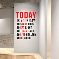Motivational Wall Decals For Gym Wall Fitness Decal Quote Gym Kettlebell Crossfit Yoga Boxing Gym Design, Wall Design, Door Design, Vinyl Wall Decals, Wall Stickers, Sticker Mural, Crossfit Box, Crossfit Quotes, Mindfulness Meditation