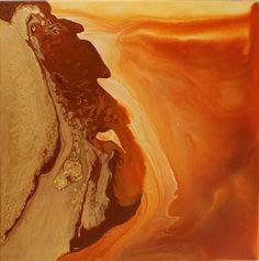abstract art, acrylic painting, Gold Rush