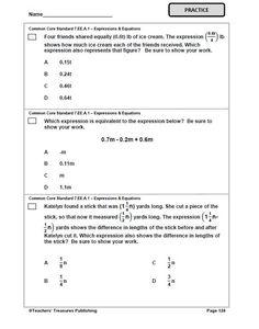 7th Grade Tennessee Common Core Math