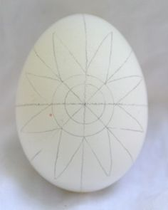 Pysanky Egg Templates | The same procedure, but centering and drawing the circle over a pair ...