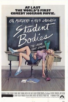 Student Bodies , starring Kristen Riter, Matthew Goldsby, Jerry Belson, Joe Flood. A killer named the Breather tallies up a score of teenage bodies in this scathing parody of slasher films. #Comedy #Horror