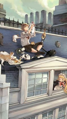 Anime couple with cats – Anime pics – Anime Paar mit Katzen – Anime Bilder – Cute Anime Boy, Cute Anime Couples, Anime Boys, Anime Art Girl, Anime Cat Boy, Gato Anime, M Anime, Anime Cosplay, Manga Japan