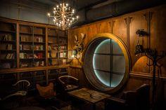 la Joben Bistro, un loc desprins din cărțile lui Jules Verne Jules Verne, Mirror, Home, Decor, Decoration, Mirrors, Ad Home, Homes, Decorating