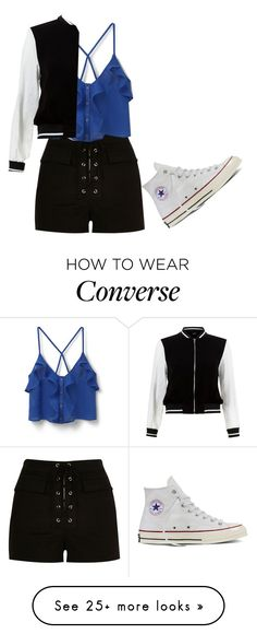 """""""Untitled #2076"""" by mikaelaryan on Polyvore featuring River Island, MANGO, New Look and Converse"""
