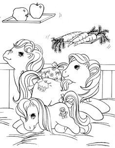 Min Lille Pony Tegninger til Farvelægning. Printbare Farvelægning for børn. Tegninger til udskriv og farve nº 17