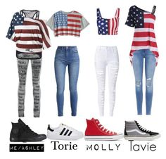 """""""American Squad"""" by metal-ashes ❤ liked on Polyvore featuring PlayMe Jeans, WithChic, Frame, Converse, adidas and Vans"""