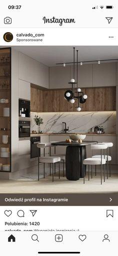 Home Design Living Room, Kitchen Room Design, Kitchen Cabinet Design, Modern Kitchen Design, Home Decor Kitchen, Bathroom Interior Design, Home Kitchens, Small Modern Kitchens, Modern Kitchen Interiors