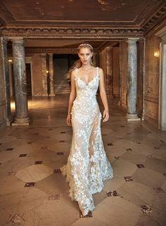 Lace Slit Wedding Dress