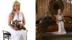 DIY: Daenerys Targaryen Game of Thrones Costume by putting together parts of other costumes.