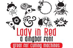 Lady in Red is a cute dingbats font with a floral feel. It will add an organic charm to any. Script Logo, Script Type, Dingbat Fonts, Font Squirrel, Premium Fonts, All Fonts, Business Brochure, Glyphs, Lowercase A