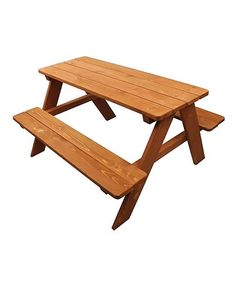 Look what I found on #zulily! Wood Kids Picnic Table #zulilyfinds
