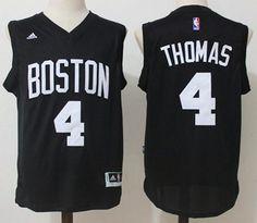Celtics  4 Isaiah Thomas Black Fashion Stitched NBA Jersey dcc15dcef