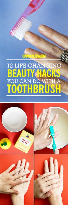 TOOTHBRUSH BEAUTY HACKS: Learn how to easily tease hair, how to exfoliate lips and skin, and how to create a Jackson Pollock inspired nail art look, all with your toothbrush! Have an extra one lying around from the dentist's office? Use these 12 hacks & brilliant ideas to amp up your beauty routine!