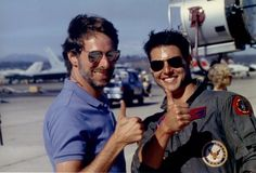 Tom Cruise and Jerry Bruckheimer in Top Gun Batman First Appearance, Tom Cruise Young, Tom Cruz, Top Gun Movie, Tom Skerritt, Kelly Mcgillis, Tony Scott, Tim Robbins, Anthony Edwards