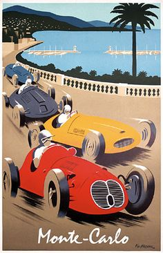✨  Pierre Fix-Masseau (1905-1994) - Monte-Carlo Lithograph 1988, L´Affiche Européenne, Vitry s/Seine