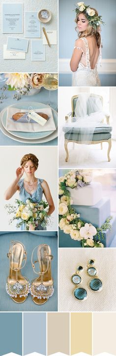 Find out how to create this romantic colour palette of blue and cream for your…